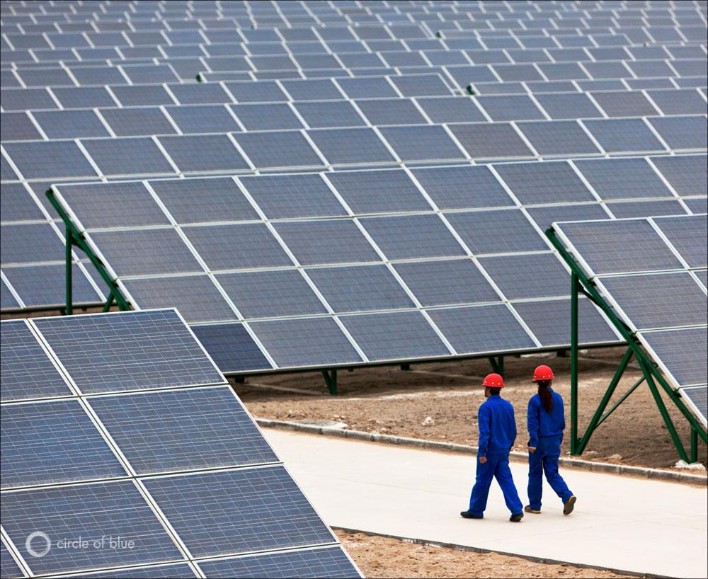 cina pannelli solari energia