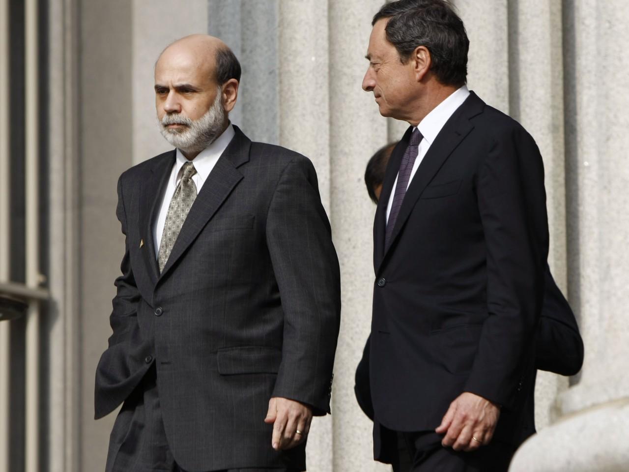 Bernanke Draghi