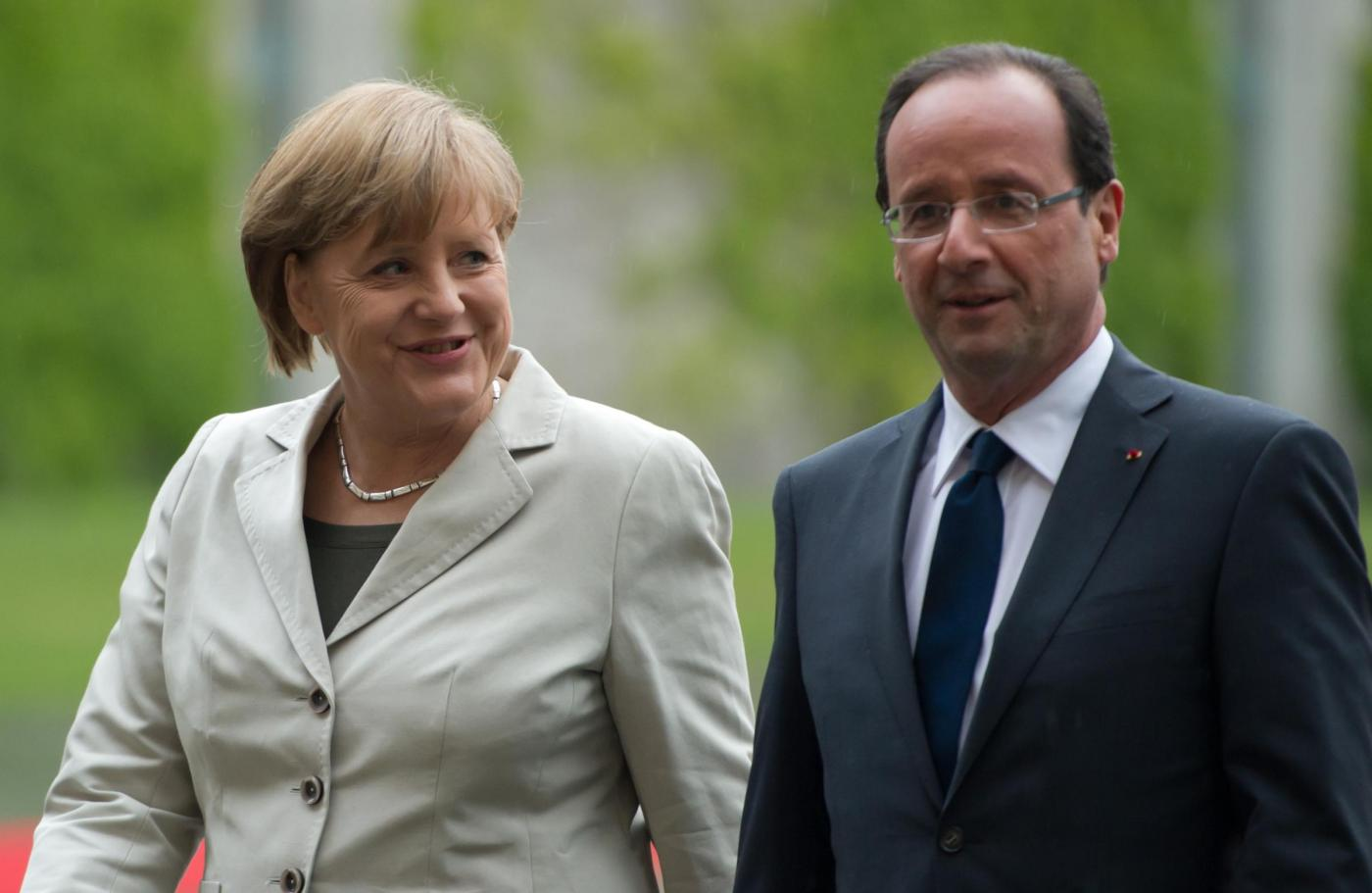 Angela Merkel riceve Francois Hollande