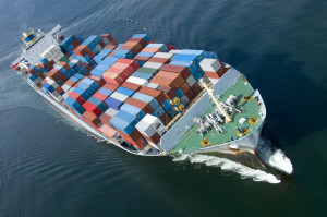 nave container commercio mare