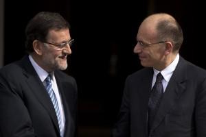 Enrico Letta a Madrid da Mariano Rajoy