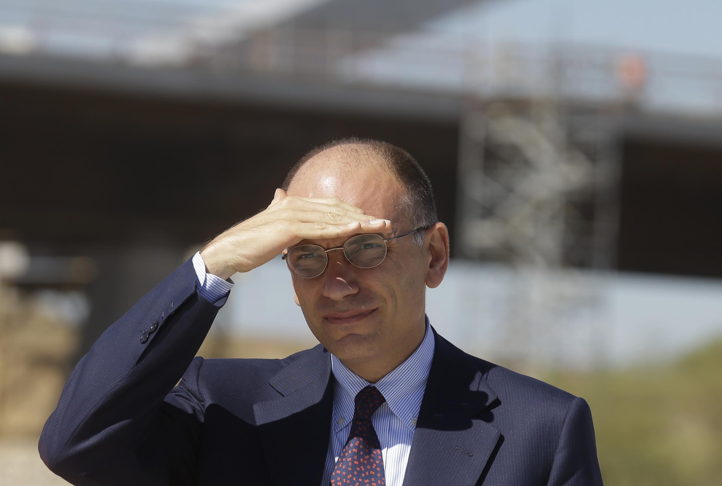 Enrico Letta in visita ai cantieri Milano Expo 2015