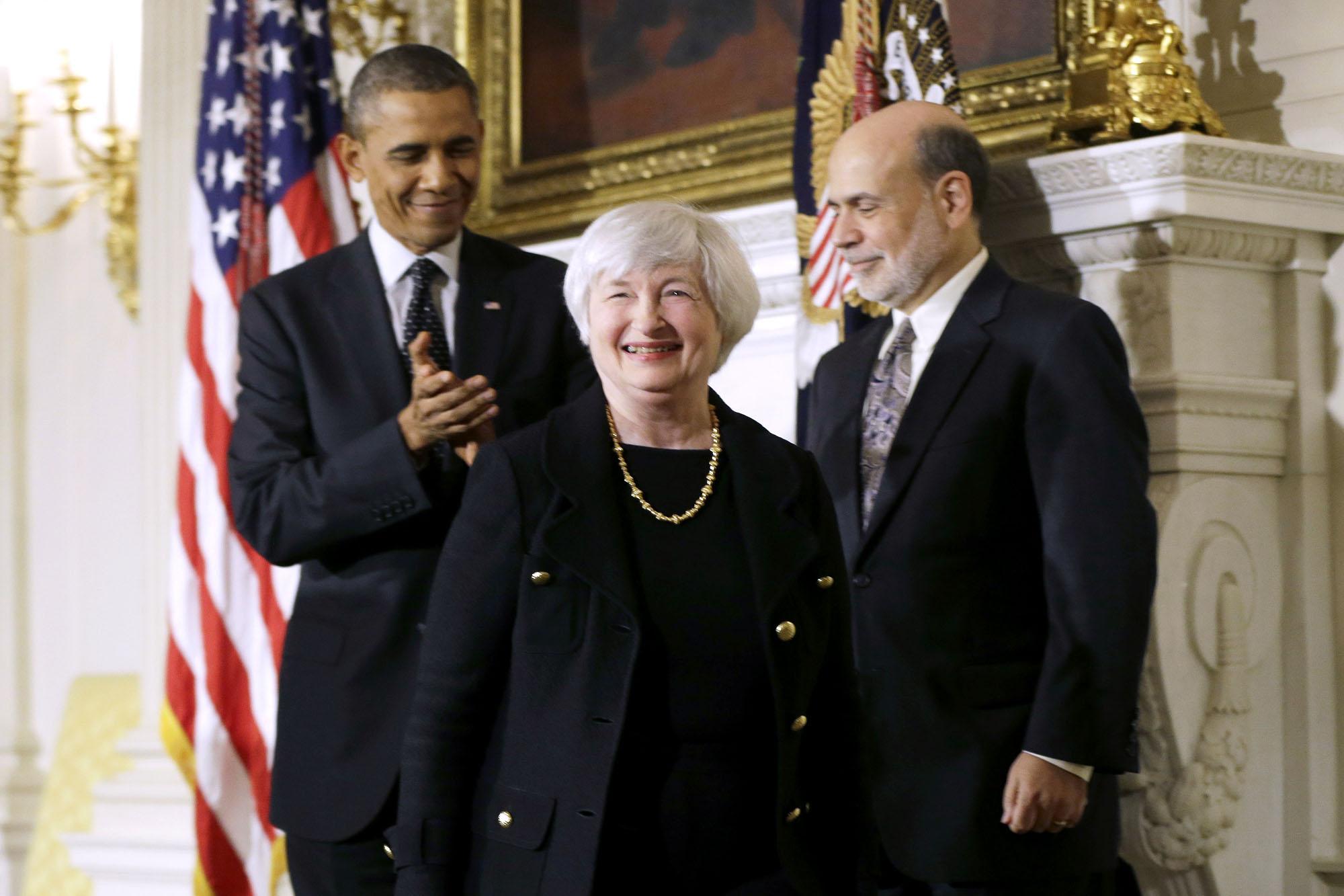 Barack Obama, Ben Bernanke, Janet Yellen