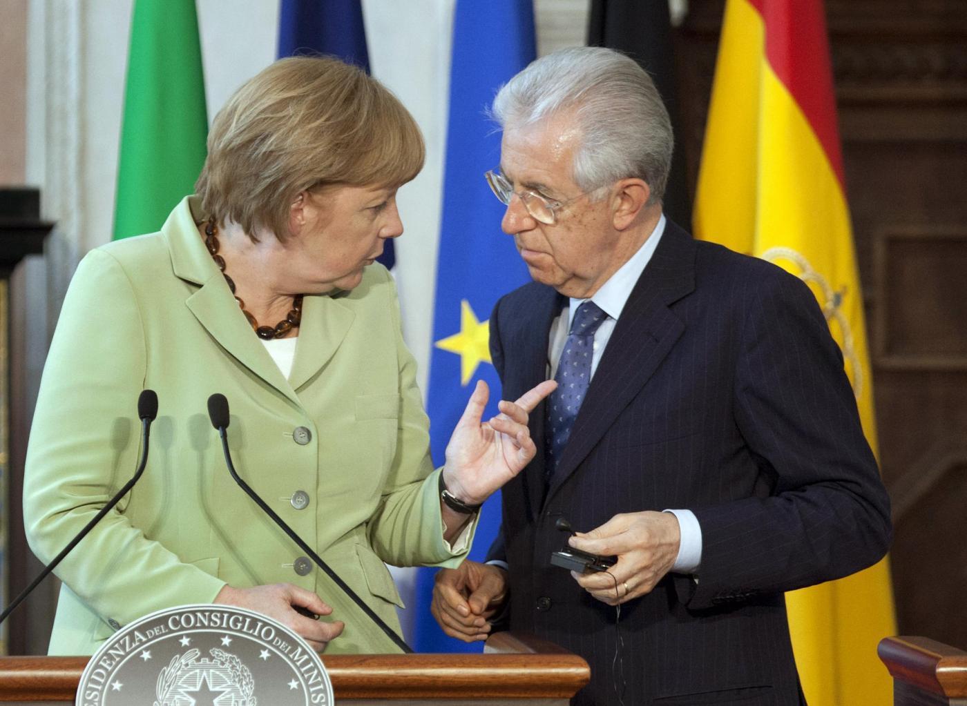 Angela Merkel, Mario Monti