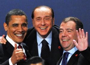 US President Barack Obama (L), Italian P