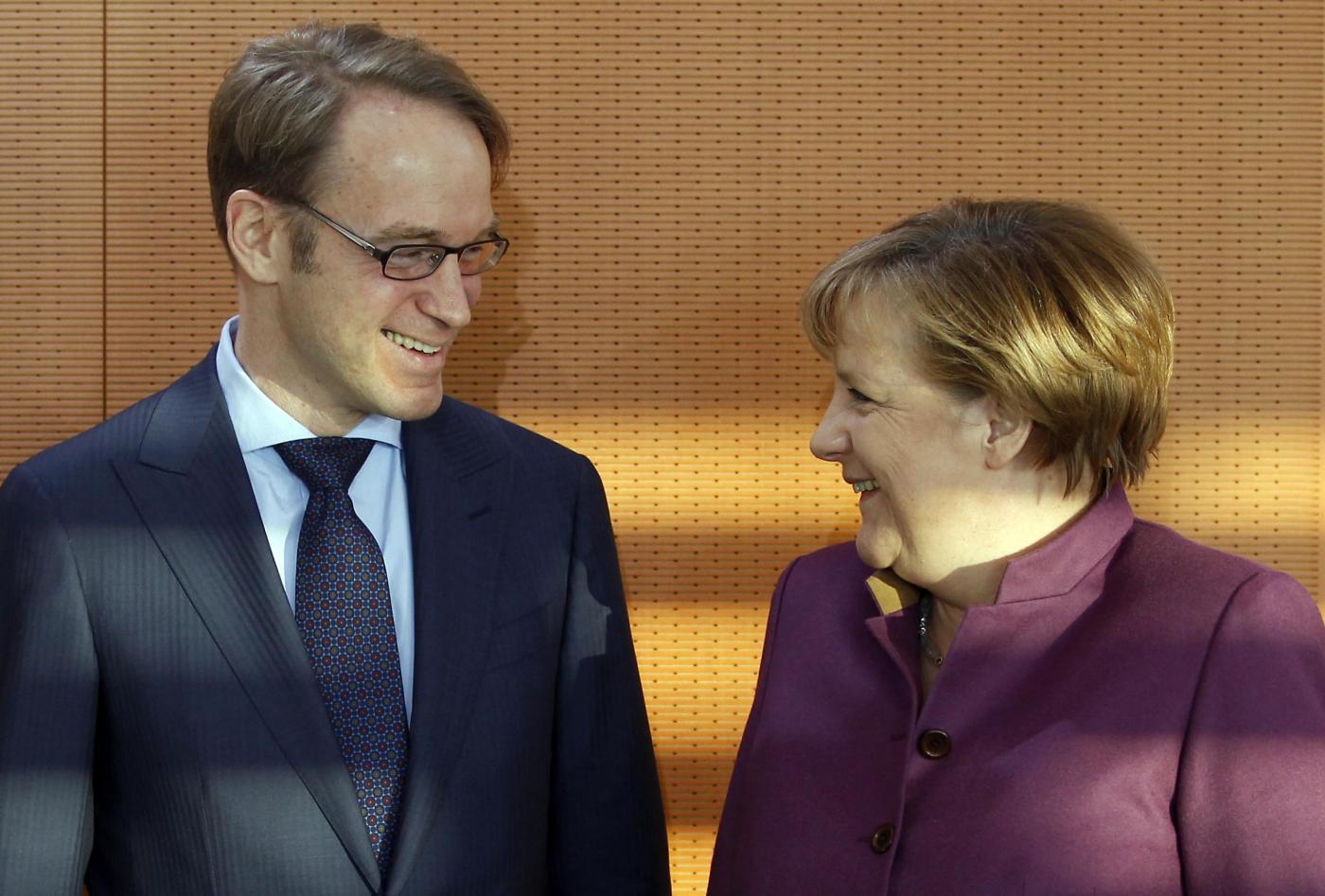Incontro Angela Merkel - Jens Weidmann