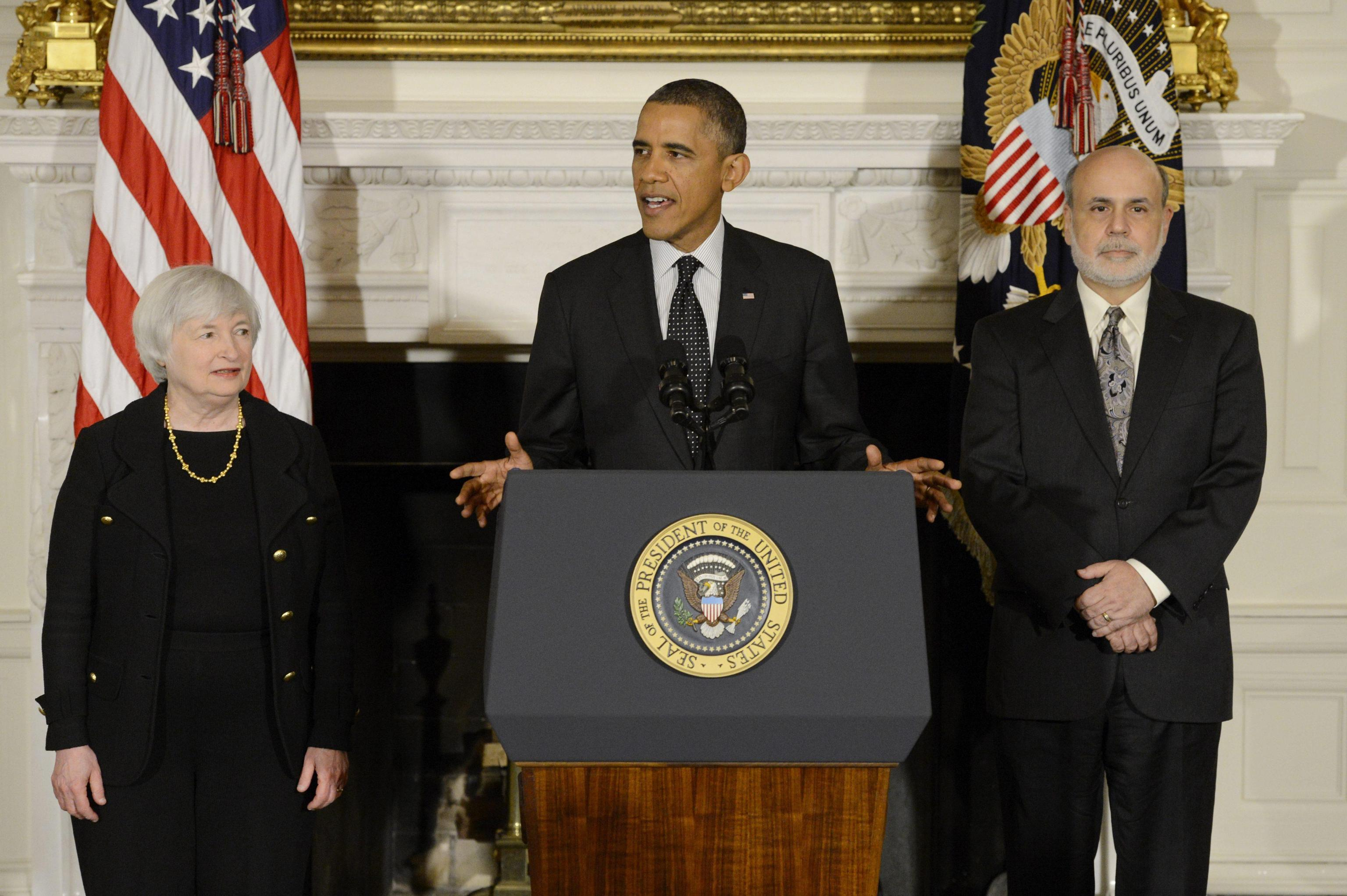 US President Barack Obama announces his nomination of Janet Yellen to be Chair of the Board of Governors of the Federal Reserve System