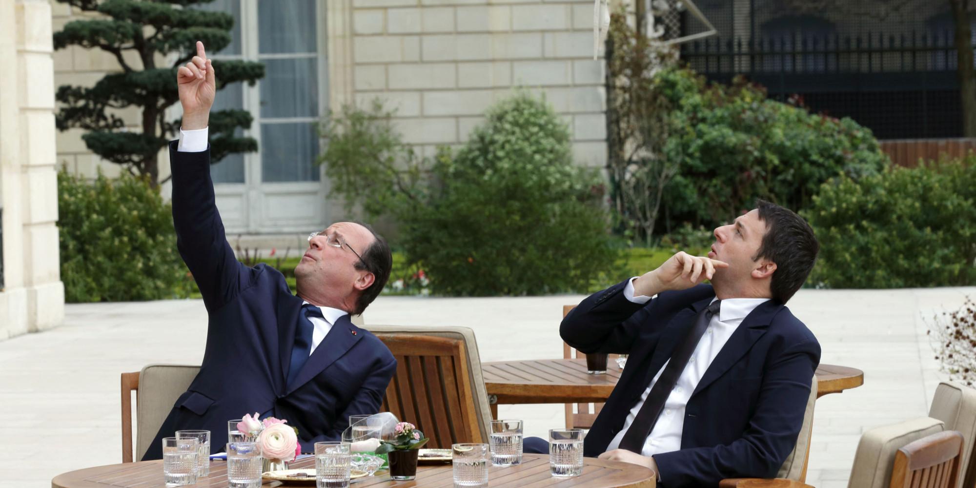 Parigi, Matteo Renzi incontra Francois Hollande