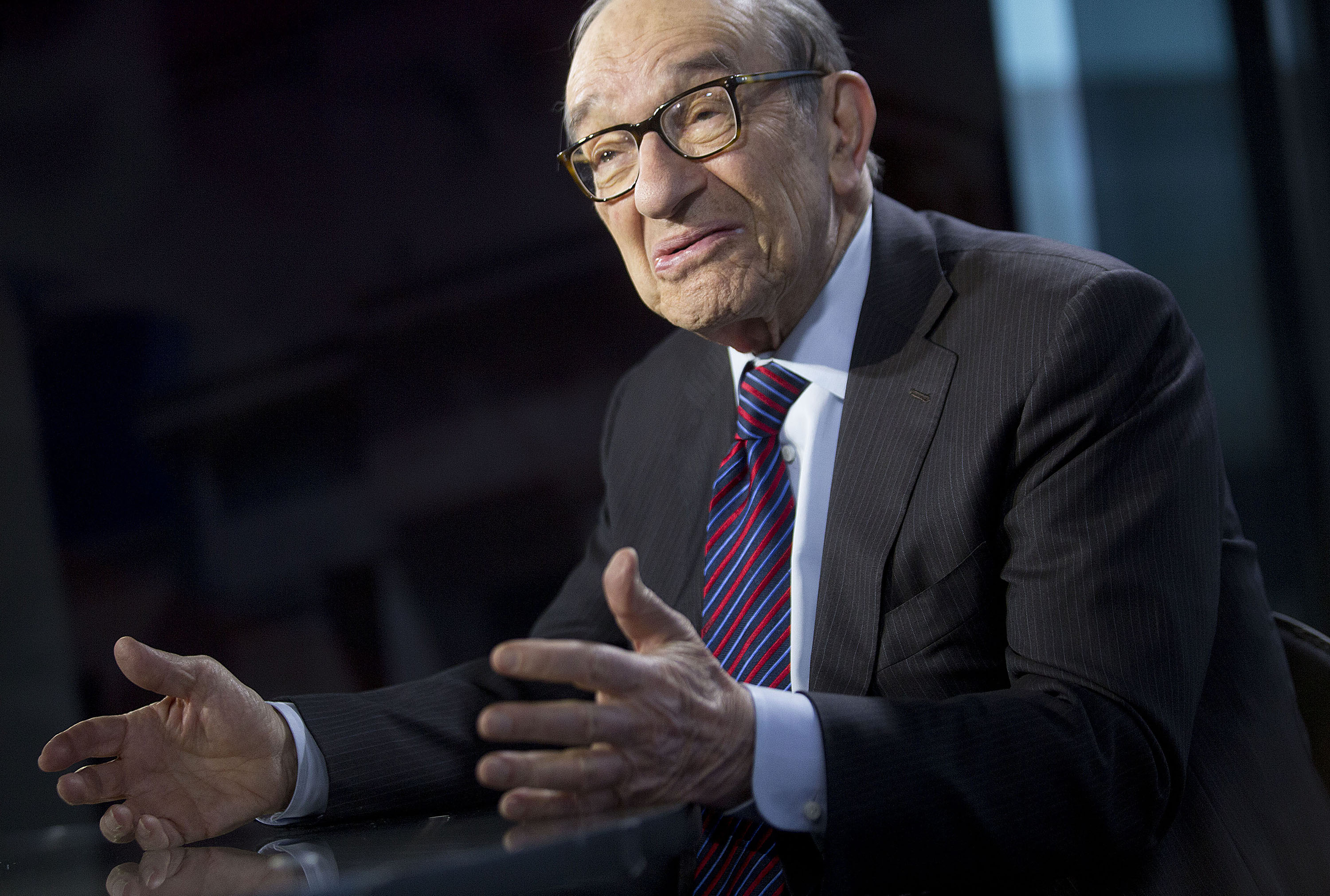 Former Fed Chairman Greenspan Sees No Bubble As Dow Tops 16,000