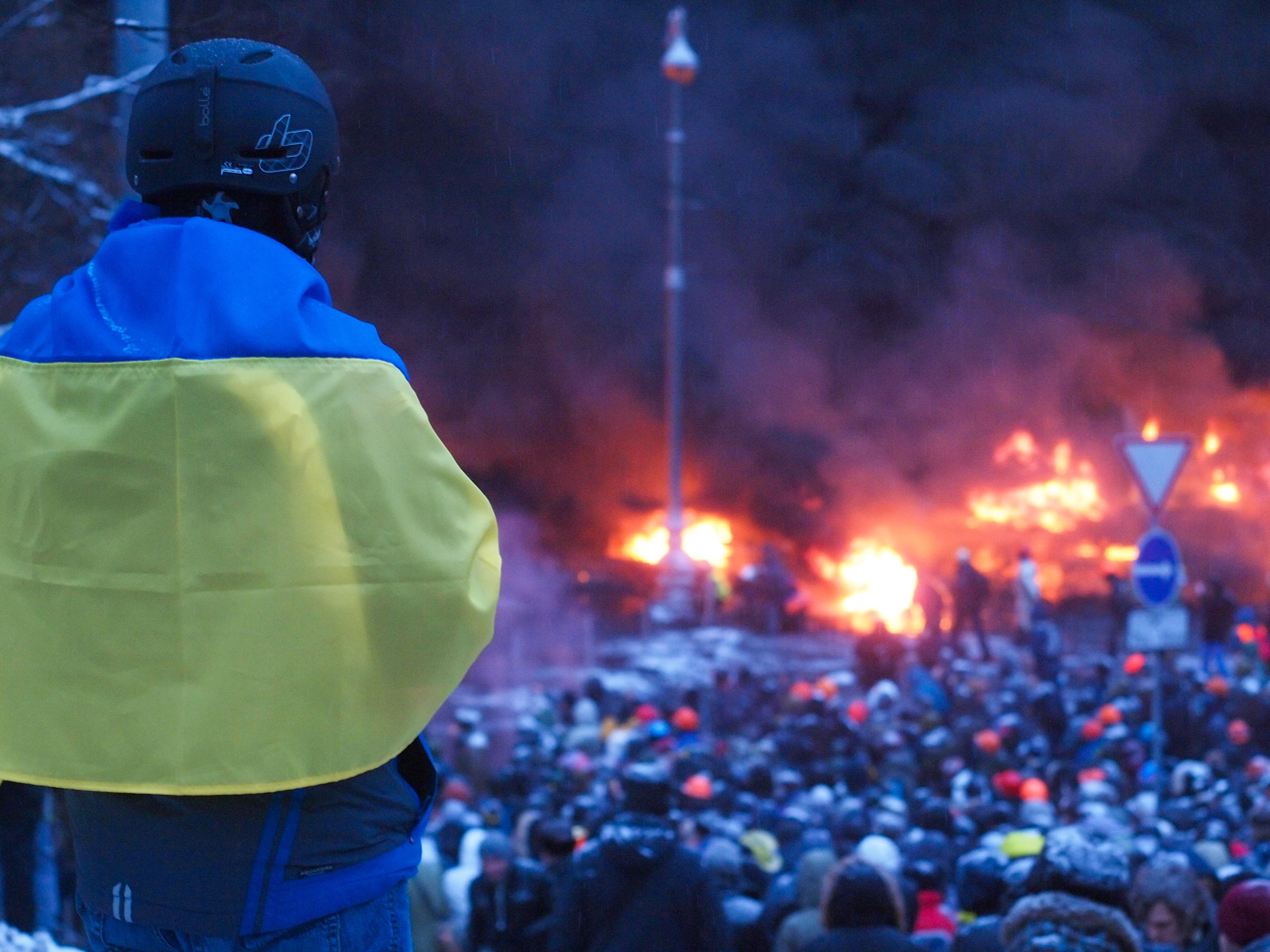 Ukraine Crisis Street Riot
