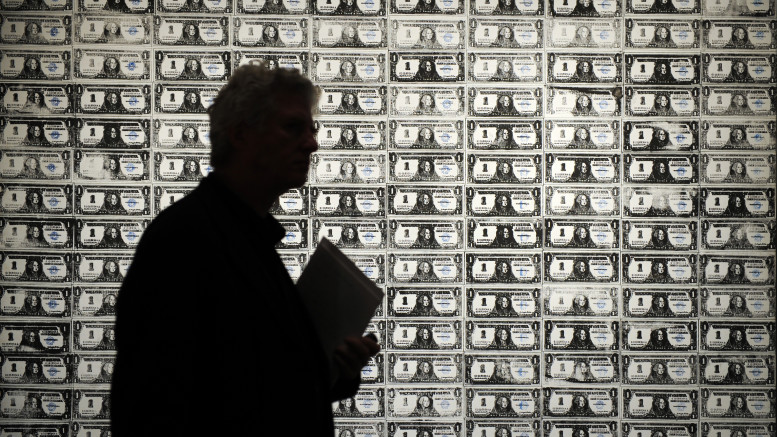 """200 One Dollar Bills"" by Andy Warhol is"