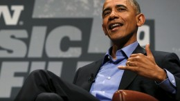 U.S. President Barack Obama participates in an onstage interview at the South by Southwest Interactive in Austin
