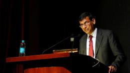 RBI Governor Rajan delivers a lecture at Tata Institute of Fundamental Research in Mumbai