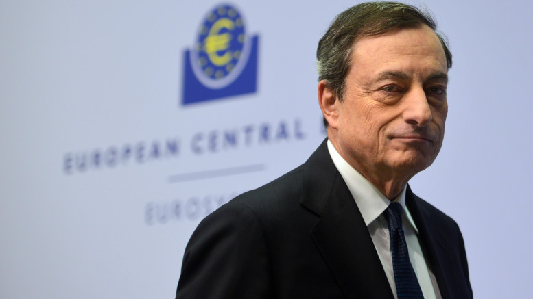 Mario Draghi Holds First Press Conference In New ECB Headquarters